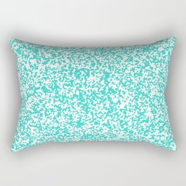 Tiny Spots - White and Turquoise Rectangular Pillow