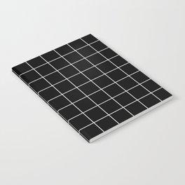 Grid Simple Line Black Minimalist Notebook