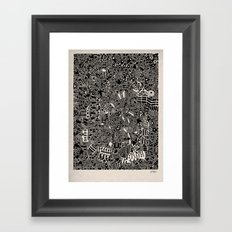 - blackout - Framed Art Print