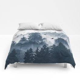 Amazing Forest Morning Nature Photography Comforters