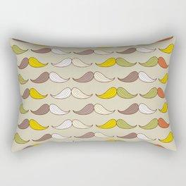 Colorful Mustache Art Pattern Rectangular Pillow