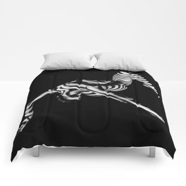 4256s-DEW Black White Nude Fit Woman Zebra Stripe Abstract Feminine Power and Flexibility Comforters