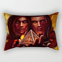 SWTOR - Sith twins selfie Rectangular Pillow