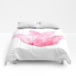 Letting Go - Beautiful Pink Tulip Watercolor Comforters