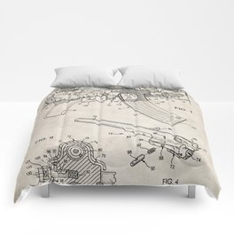 Ak-47 Rifle Patent - Ak-47 Firing Mechanism Art - Antique Comforters