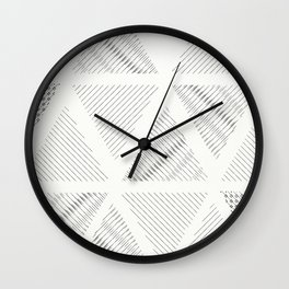 Triangle Hatching Pattern Wall Clock