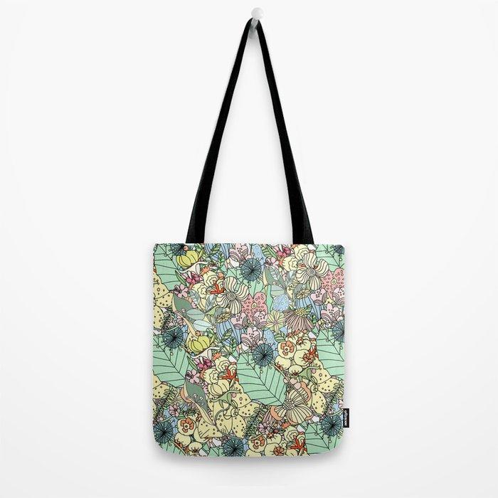 Nature Bloom Pattern Tote Bag