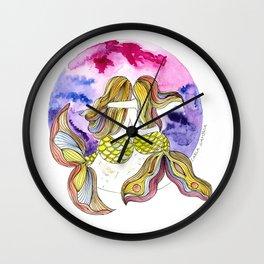 Mamá Sirena e hija Wall Clock