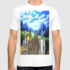 No Place Like Home Wizard Oz Art White MEDIUM Mens Fitted Tee