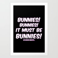 bunnies Art Prints featuring Bunnies by Nana Leonti