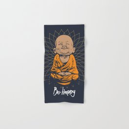 Be Happy Little Buddha Hand & Bath Towel