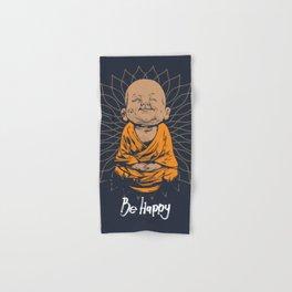 Be Happy Little Buddha Hand & Bath Towel