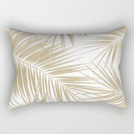 Palm Leaves - Gold Cali Vibes #6 #tropical #decor #art #society6 Rectangular Pillow