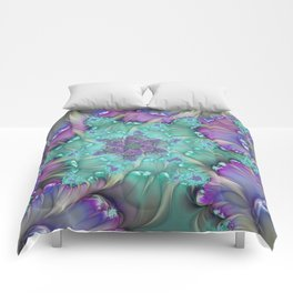 Find Yourself, Abstract Fractal Art Comforters