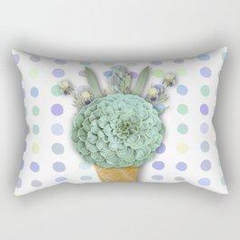 SUCCULENT CACTUS ICE CREAM Rectangular Pillow