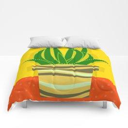 Cactus Decor,Modern Wall Art,Home Decor,Still Life,Minimalist Art,Contemporary Art Comforters