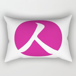 Hot Pink Person Rectangular Pillow