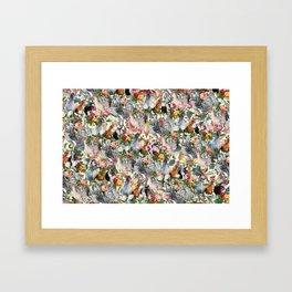 Julia's Chickens Framed Art Print