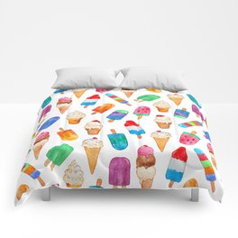 Summer Pops and Ice Cream Dreams Comforters