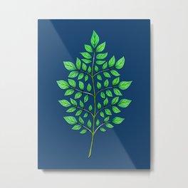 Patterns in Nature - Leaf Fractal Metal Print