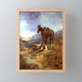 """""""A Morning Shower"""" by Frank Tenney Johnson Framed Mini Art Print"""