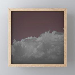 Cloudy rose Framed Mini Art Print