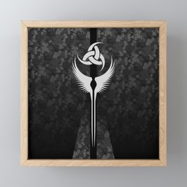 Modern Valkyrie Urban Camo Framed Mini Art Print