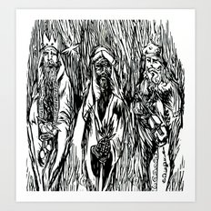 The 3 Wise Men Art Print