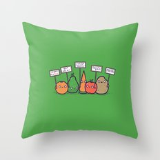 I hate vegans Throw Pillow