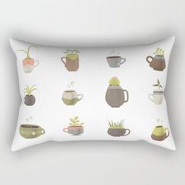 MUGS PLANTS MUGS COFFEE MUGS TEA Rectangular Pillow