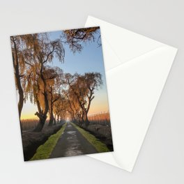 The path in the sunrise Stationery Cards