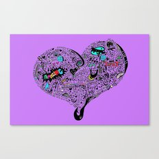Heartfull en colour Canvas Print