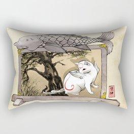 Okami Cat Zodiac Sign Rectangular Pillow