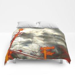 Vivid electricity Comforters