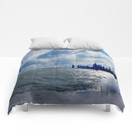 When Sandy Made Waves in Chicago #4 (Chicago Waves Collection) Comforters