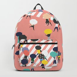 Crossing The Street On a Rainy Day Backpack