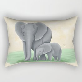 Mama Tembo (Mama Elephant & Baby) Rectangular Pillow
