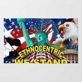 America! Ethnocentric We Stand Rug