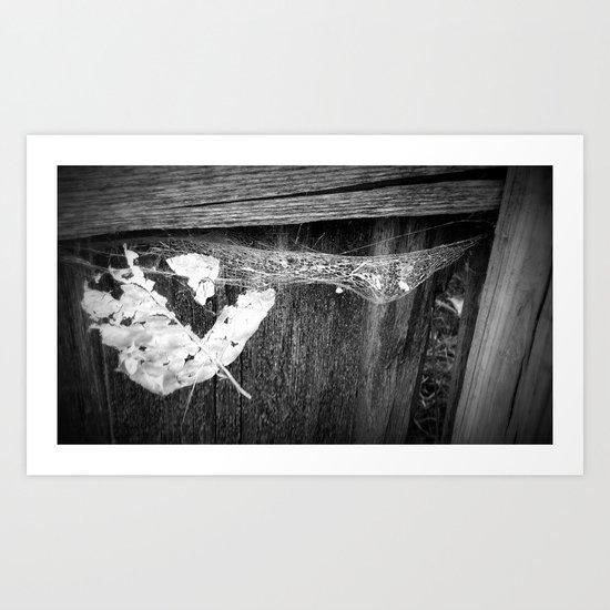 Death Trap BW Art Print
