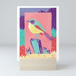 Neon Warbler Mini Art Print