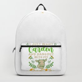 Gardener Gardening Funny Garden Goat Lovers Gift Backpack