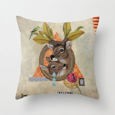 Animal Collection -- Oh Deer! Throw Pillow