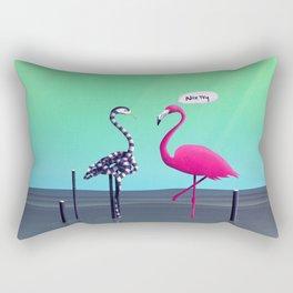 Nice Try, Flamingo! Rectangular Pillow