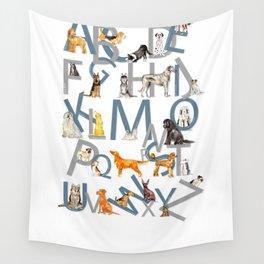 Dog Breed Alphabet Wall Tapestry
