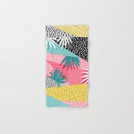 Bingo - throwback retro memphis neon tropical socal desert festival trendy hipster pattern pop art Hand & Bath Towel