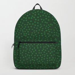 Green Dot Pattern Backpack