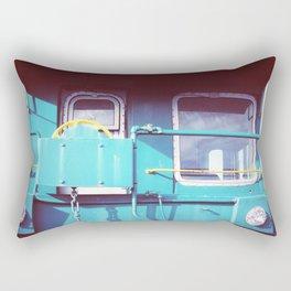Locomotive in Turquoise Rectangular Pillow