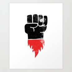 Resist Fist Art Print