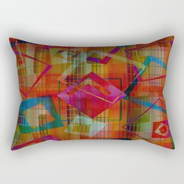 Topsy Turvy Squares Rectangular Pillow