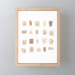 Butts Framed Mini Art Print
